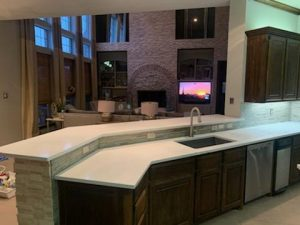Bella Blanca Quartz Kitchen Countertop 6