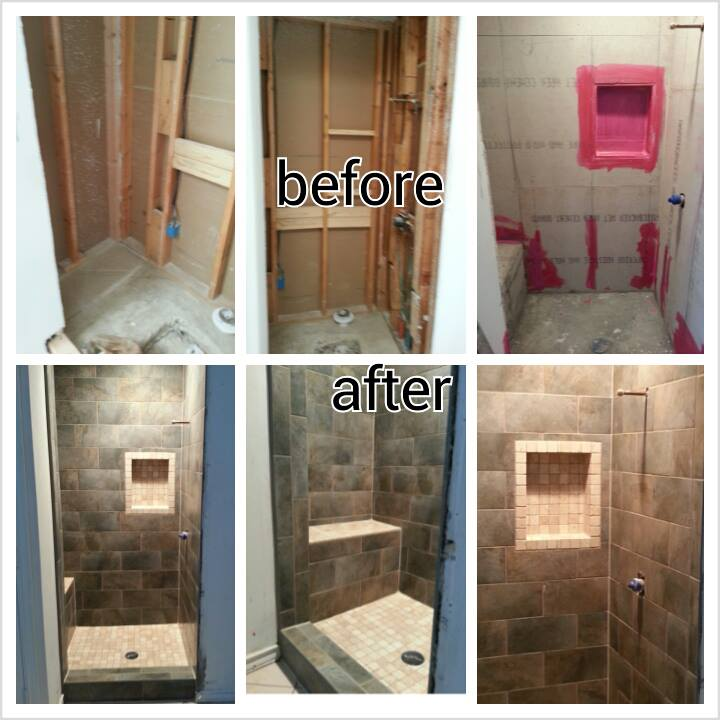 Shower Remodel Before And After Pictures To Pin On Pinterest
