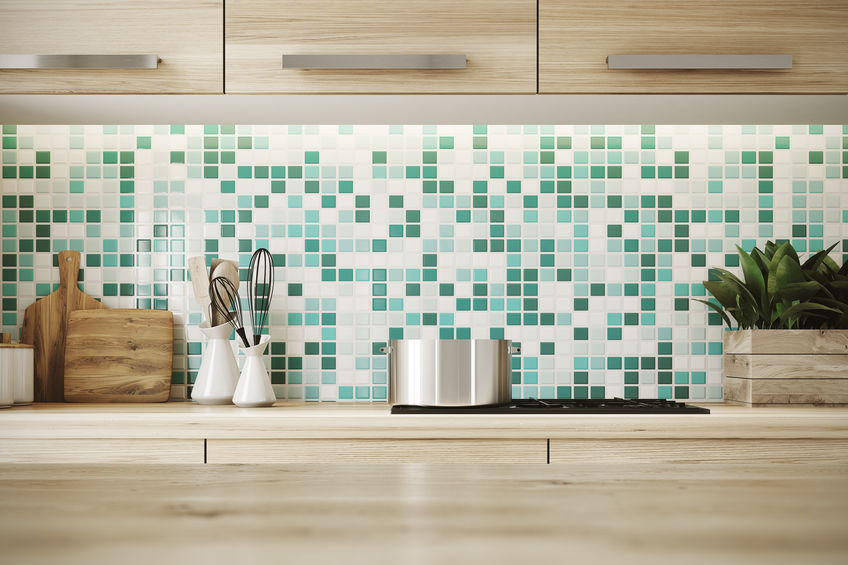 Backsplash Tile Made of Glass